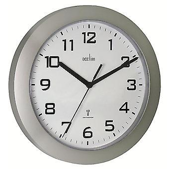 Acctim Peron Wall Clock Silver Silver