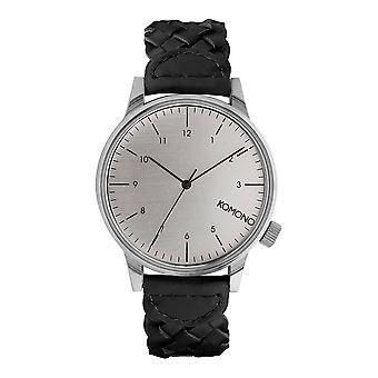 KOMONO Winston geweven zwart - unisex horloge