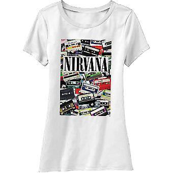 Nirvana - Cassettes Ladies XX-Large T-Shirt - White