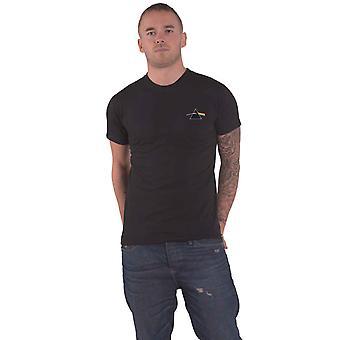 Pink Floyd T Shirt Dark Side Of The Moon Prism Band Logo Official Mens Black
