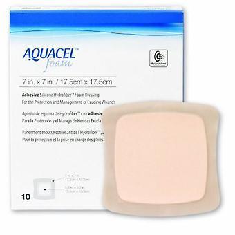 Convatec Silicone Mousse Dressing Aquacel 7 X 7 pouces Carré Adhésif silicone avec bordure stérile, 1 chacun