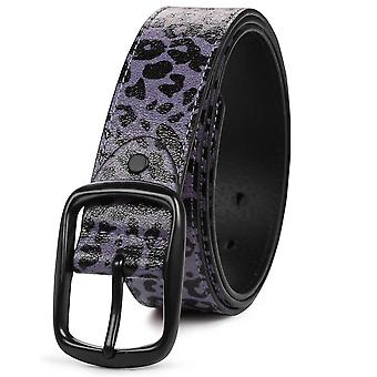 Purple s 115cm imitated crackle leopard belt fashion personality all-match belt homi2973