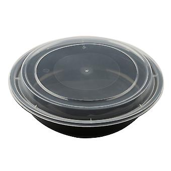 Meal Prep Circular Food Containers Bpa Free Plastic Lunch Box Reusable And Microwavable