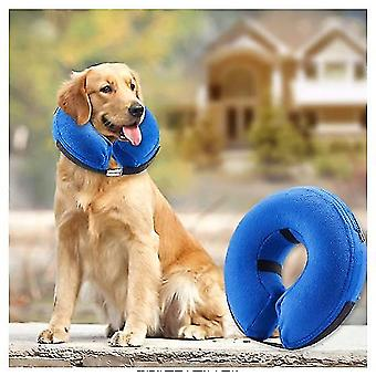 Inflatable Collar For Dogs And Cats-soft Pet Recovery Collar Will Not Block Vision(L)