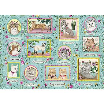 Gibsons Famous Felines Jigsaw Puzzle (1000 Pièces)