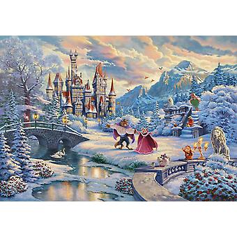 Schmidt Thomas Kinkade: Disney Beauty and the Beast Winter Enchantment Jigsaw Puzzle (1000 Pieces)