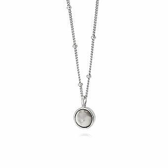 Daisy Howlite Healing Stone Silver Necklace HN1006_SLV