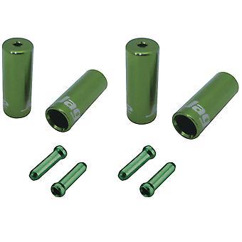 Jagwire Brake/Gear Universal Pro End Cap Packs (för flätat hölje) Grön 4,5/5mm