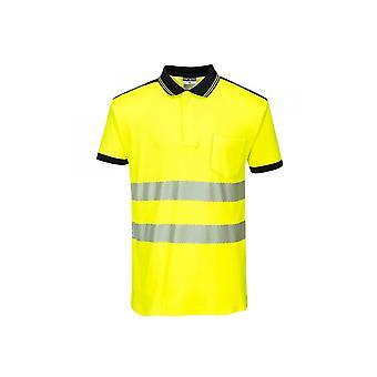 Portwest PW3 Hi-Vis Polo Shirt Short Sleeve T180