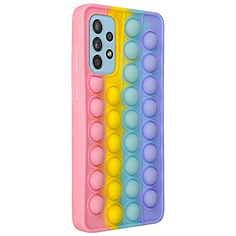 Cover for Samsung Galaxy A72 Anti-stress Pop It Fidget Toy - Multicolored