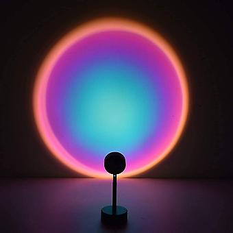 Sunset Projection Lamp, Night Light Projector,90 Degree Led Projection Lamp,night Light For Kids Adults,lights For Room Decor (sun-red, Portable)