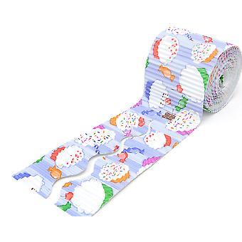 Cupcake Design 7m Corrugated Card Bordette Classroom Border Roll