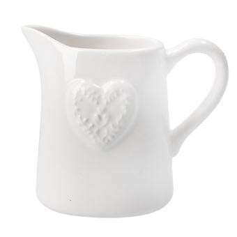 Gisela Graham Kleine Keramische Kruik   Witte   Cadeau-item