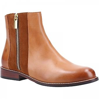 Hush Puppies Frances Ladies Leather Ankle Boots Tan