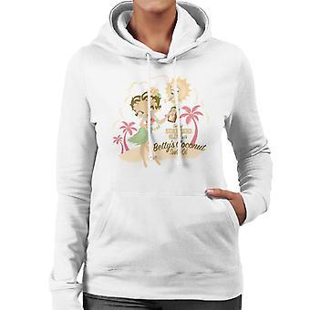 Betty Boop Bettys Coconut Suntan Oil Women's Hooded Sweatshirt