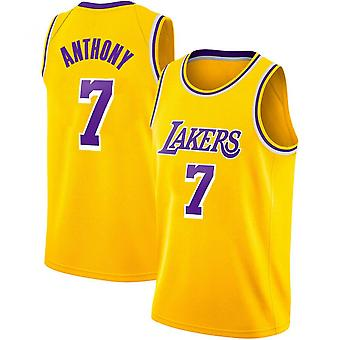 Los Angeles Lakers #7 Carmelo Anthony Jersey Basketball Uniform Sport Shirts