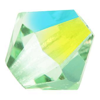 Preciosa Tšekin kristalli, Bicone Bead 6mm, 24 Pieces, Chrysolite AB