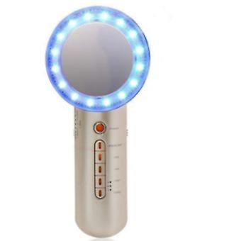 Ultrasonic Cavitation Machine Waterproof Body Slimming Massager Anti Cellulite Device LED Red Blue(Gold)