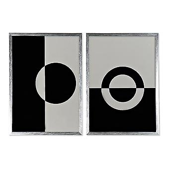 DKD Home Decor Abstract board (2 pcs) (50 x 3 x 70 cm)