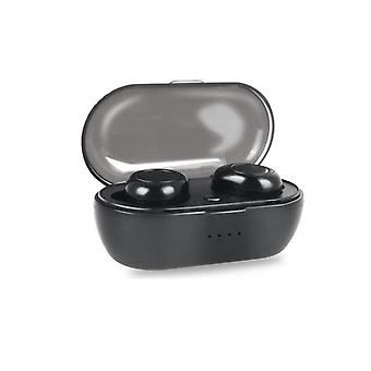 W12 Wireless Earphone For Ios Android Mobile Phone Bluetooth 5.0 Multi-function Sports Headphone Touch Control Earbuds With Charging Box Black Button