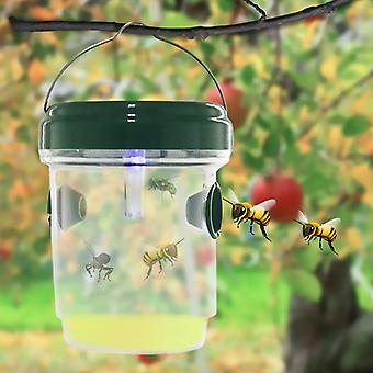 Wasp Trap Fruit Fly Capture Solar Powered LED Light Orchard Non-toxic Waterproof Insect Killer Pest Control Outdoor Hornet Traps Honeybee Trap