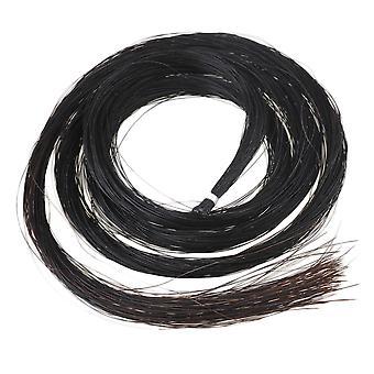Orkestrale snaar instrument fittingen delen zwart 1 hank 32inch Mongoolse viool / altviool boog haar paard haar