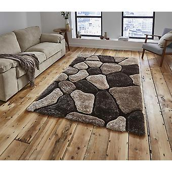 Noble House Pebbles 5858 Beige Brown  Rectangle Rugs Plain/Nearly Plain Rugs