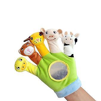 Baby Hand Puppet Cartoon Animal Plush Toy Fabric Finger Puppet Newborn Animal Rękawiczki Edukacyjna Zabawki