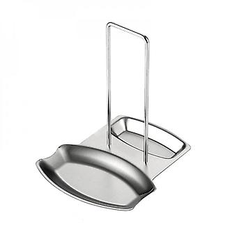 Lid Holder Spoon Rest Knives Spoons Forks Stainless Steel Spatula Cover Rest