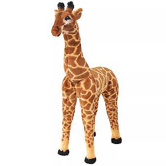 Ant farms standing plush toy giraffe brown and yellow xxl riding stuffed animal