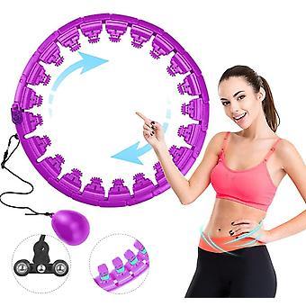 24-section Hula Hoop Fitness Ring Adjustable Massage Small Abdominal Training Device Gymnastics Ring