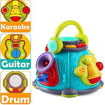 Musikalische Babyspielzeuge, Gitarren, Schlagzeug, Mikrofone, Trompeten mit Licht, Geburtstagsgeschenke für Babys