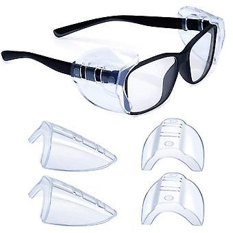 Protectores laterales para anteojos Slip On Gafas de seguridad Escudo Universal