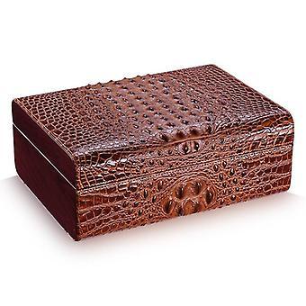 Moisrurizing Cigar Box Crocodile Grain Natural Cedarwood (Hold 50Pcs)  Accessories