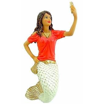 December Diamonds Miss Snap Taking a Selfie Mermaid Holiday Ornament 7 Inches
