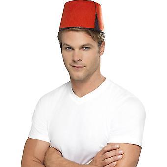 Marokkanen hoed Marokko Arabische Fez hoed rood