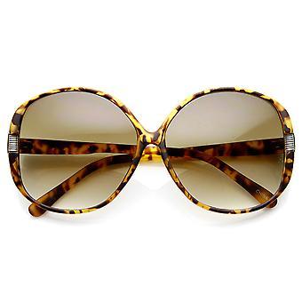 Moda damska akcent Metal okrągły przewymiarowany okulary