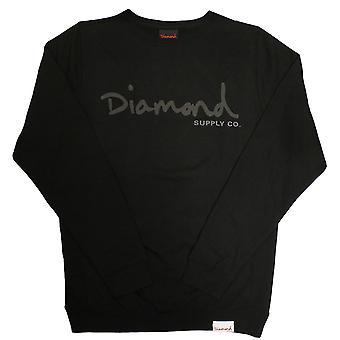 Diamond Supply Co Tonal OG Script Sweatshirt Black