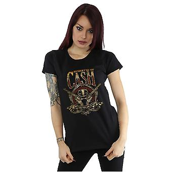 Johnny Cash Women's Guns To Town T-Shirt