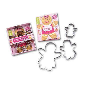 Cooksmart barn 3 stykke pepperkaker jente Cookie Cutter sett
