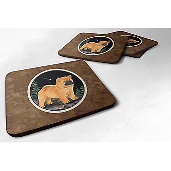 Carolines Treasures  SS8488FC Starry Night Chow Chow Foam Coasters Set of 4