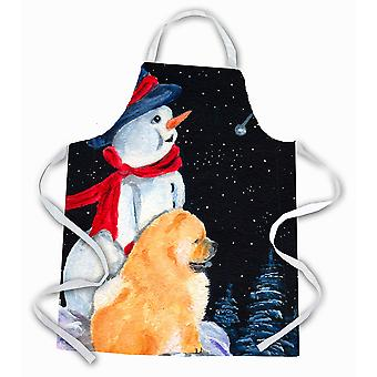 Carolines Treasures  SS8554APRON Snowman with Chow Chow Apron