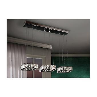 Schuller Modern Chrome Square Ceiling Pendant Bar Light