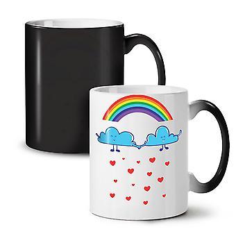 Rainbow Love Rain Fashion NEW Black Colour Changing Tea Coffee Ceramic Mug 11 oz | Wellcoda