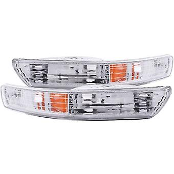 Anzo USA 511021 Acura Integra Chrome Euro w/Amber Reflector Bumper Light Assembly - (Sold in Pairs)