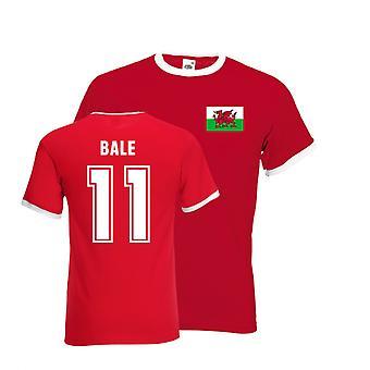 Gareth Bale Galles Ringer Tee (rouge)