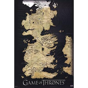 Game of Thrones - Map of Westros - Vertical Poster Poster Print
