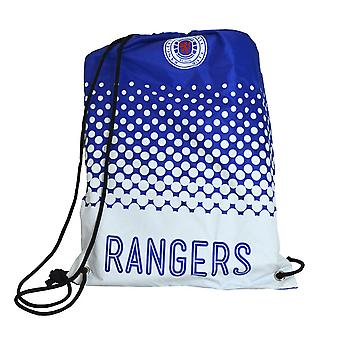 Rangers FC Official Football Crest Fade Drawstring Bag