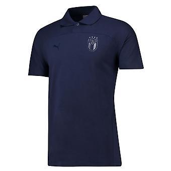 2018-2019 Italia Puma Azzurri Polo skjorte (Peacot)