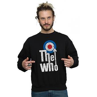 人男性の長いターゲット ロゴ スウェット シャツ